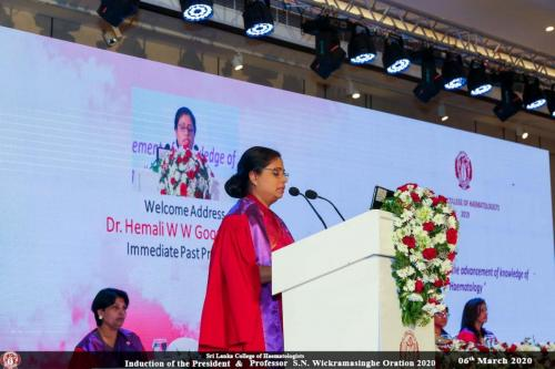 Welcome address by Dr. Hemali Goonasekara